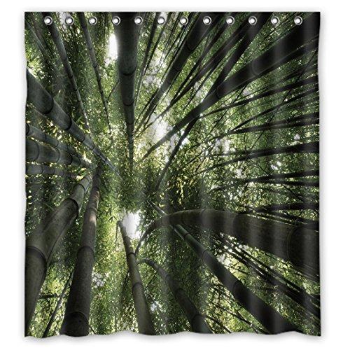 sanmou Custom Anzu de bambú Patrón Cortina de ducha (poliéster resistente al agua baño 167,6x 182,9cm