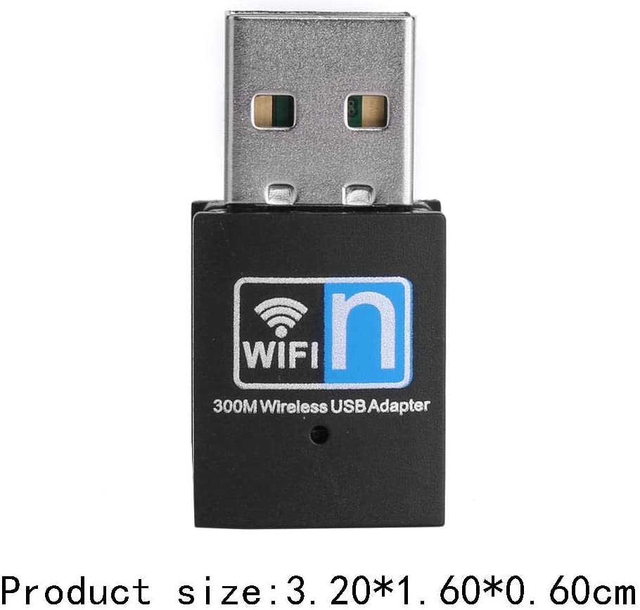 Mini WiFi Adapter USB Dongle Wireless Network Card Adapter for Windows 2000 // XP//Vista // 7//8 // 10 300Mbps Wireless Transmission Rate Linux