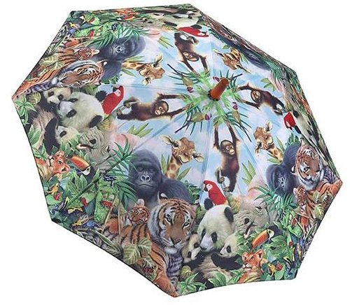 Galleria Animal Kingdom Kid's Childrens Stick Umbrella