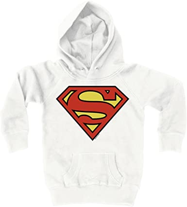 DC Comics Official Superman Blast Logo Felpa Bambini e Ragazzi