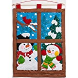 Bucilla Felt Applique Wall Hanging Kit, Winter Window, 86732 Size 15-Inch by 21-Inch