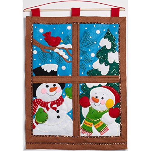 Bucilla Felt Applique Wall Hanging Kit, Winter Window, 86732 Size 15-Inch by 21-Inch by Bucilla