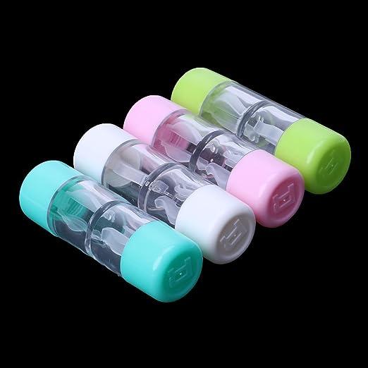 PENG Lente de Contacto Caja Botella Plástico Objetivo Viaje ...