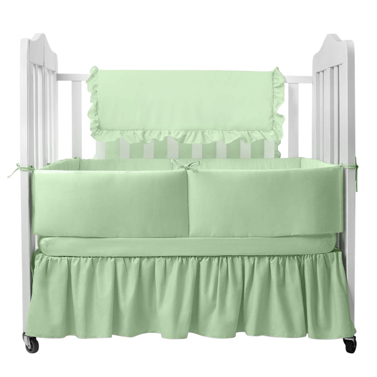 24x38 24x38 009243088776 Babydoll Tailored Baby Porta Crib Bumpers Green
