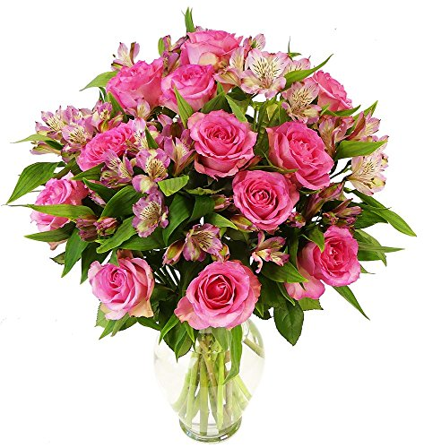 Benchmark Bouquets Charming Roses and Alstroemeria