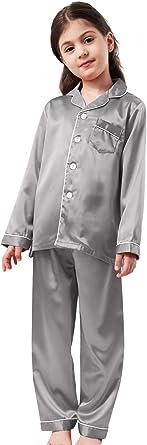 Horcute Pajamas Little Kid Sleepwears Set Pjs Clothes Long Sleeve Rosegold 16...