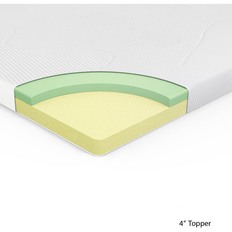 Spa Sensations 4'' Memory Foam Mattress-Topper; Size: Twin by Spa Sensations (Image #2)