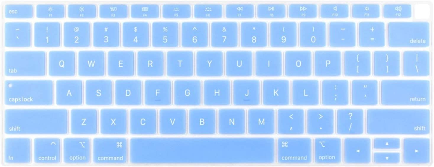 Silicone Keyboard Cover for MacBook New Air 13 Model A1932 2018 2019 US Enter English Alphabet-White