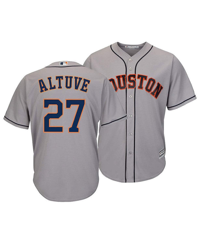 online retailer 783c8 38b7b Outerstuff Jose Altuve Houston Astros #27 Gray Youth Cool Base Road Replica  Jersey
