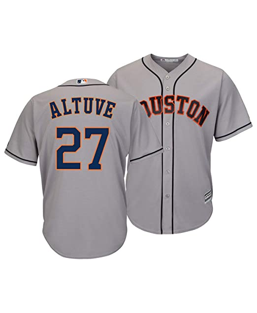 online retailer e1b65 2aa20 Outerstuff Jose Altuve Houston Astros #27 Gray Youth Cool Base Road Replica  Jersey