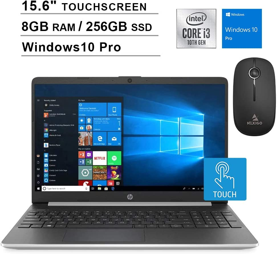2020 HP Pavilion 15.6 Inch Touchscreen Laptop| 10th Gen Intel Core i3-1005G1 (Beats i5-7200U)| 16GB RAM| 1TB PCIe SSD| WiFi| Bluetooth| Webcam| Windows 10 + NexiGo Wireless Mouse Bundle