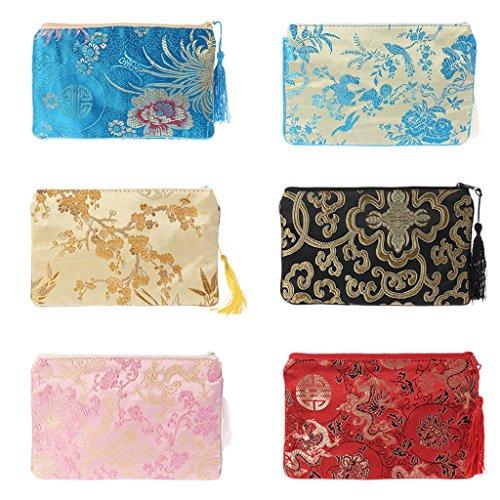 Universal zipper For Women Chuhe Wallet Gift Pink New Bag Purse Holder Phone Pouch clutchCard Girl double Silk Small qEqpnH0x
