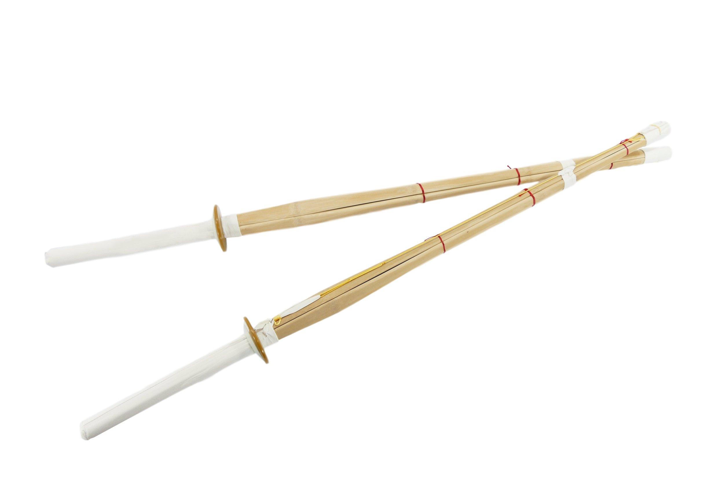 MAKOTO 42'' Shinai Bamboo Swords for Kendo Practice - Pair of 2 by MAKOTO