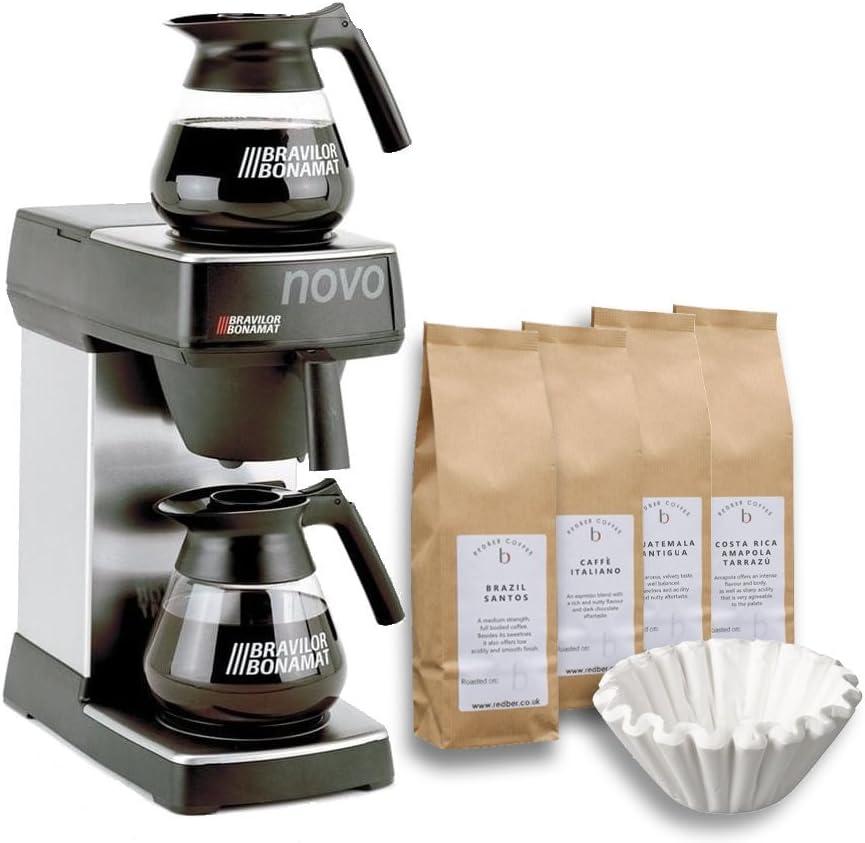 Kit de iniciaci/ón para m/áquina de caf/é con 2 filtros Bravilor Novo