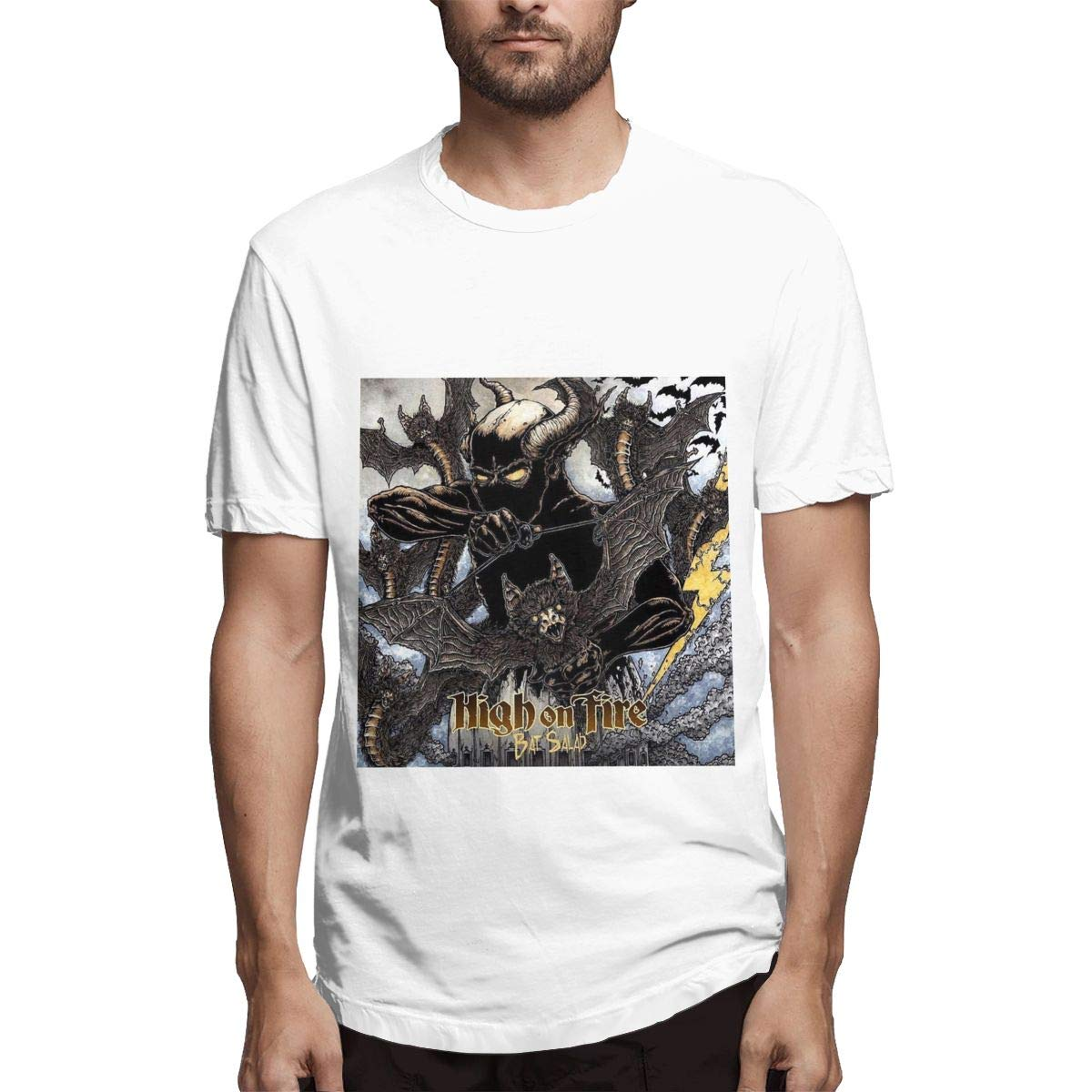 Lihehen Man High On Fire Simple Casual Round Neck T Shirt