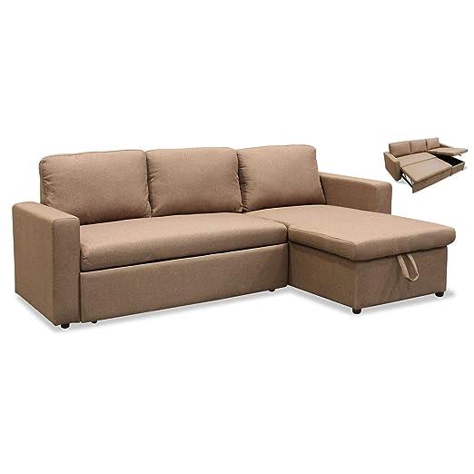 Muebles Baratos Sofa Cama con Chaise Longue, Tres plazas ...