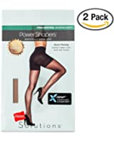 2 Pack - Hanes Solutions Women's Power Shapers Sheer Hosiery