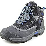 Khombu Men's Fleet Hiker Terrain Weather Rated Winter Boots Snow Grey/Blue (12 M)