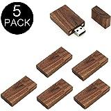 Yaxiny 5pezzi rettangolare in legno di noce 2.0/3.0USB Flash Drive USB disk memory stick con legno Wood USB Disk-4 2.0/8GB
