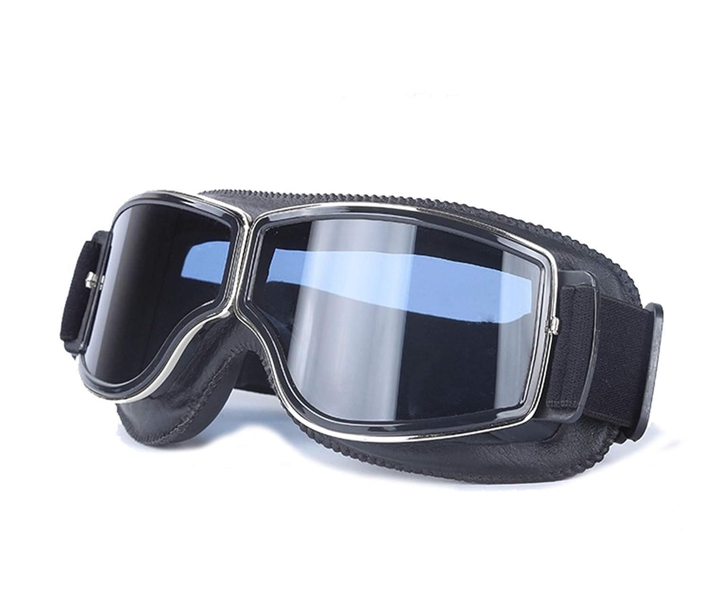 Blisfille Gafas de Ventisca Hombre Gafas Moto Amarillas,Negro Negro
