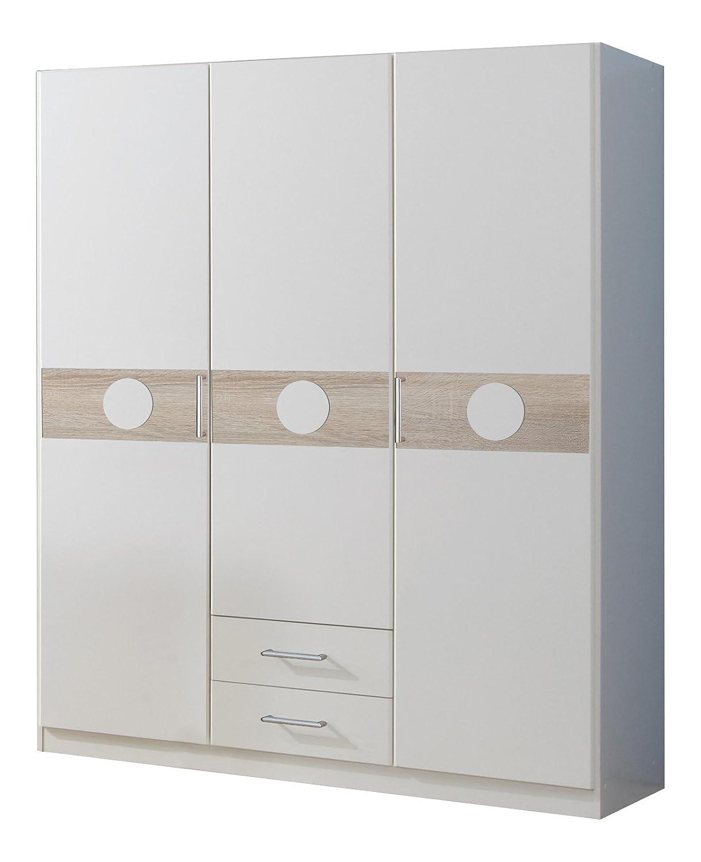 Wimex 310173 Kleiderschrank 135 x 181 x 58 cm 3-türig mit zwei ...