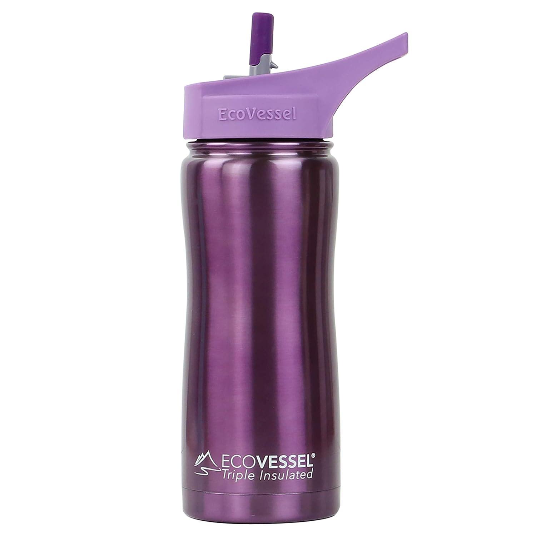 Ecovessel Summit wählen Sie entweder Dreifach Isolierte Edelstahl-Flasche mit Flip Stroh