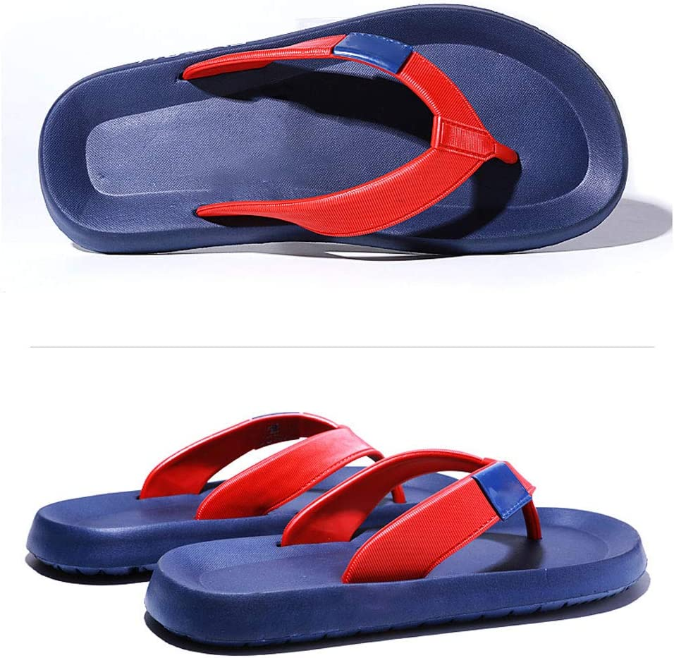 Size : 6 US Flip Flops HUYP Blue Summer Mens Sandals and Slippers Personality Beach Shoes Student