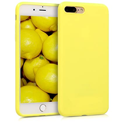 best sneakers f3bbe 7ca4e kwmobile TPU Silicone Case for Apple iPhone 7 Plus / 8 Plus - Soft Flexible  Shock Absorbent Protective Phone Cover - Pastel Yellow Matte