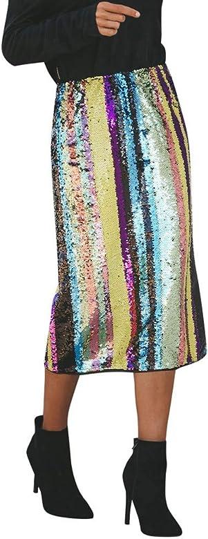 Lenfesh_Vestidos Falda para Mujer, Lenfesh Mujer Falda Fiesta con ...