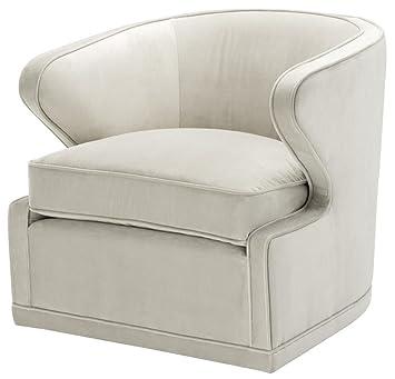 Casa-Padrino sillón de Sala de Estar/sillón Giratorio Gris ...