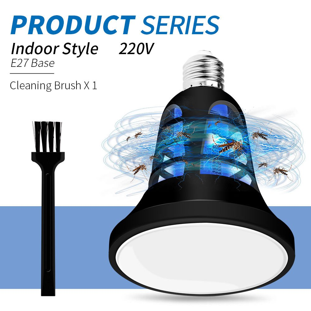 Lampade Killer LED Repeller Killer Lampade 110V 220V Fly Bug Housefly Insect Killing Lampadine 5V E27 Anti-Mosquito LED Light 8W Due Modalità,Indoor220v