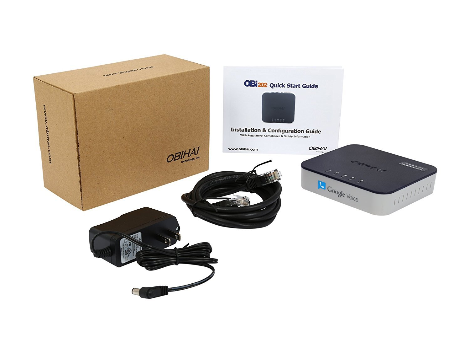 OBi202 2-Port VoIP Phone Adapter with Google Voice and Fax Support for Home and SOHO Phone Service by Obihai (Image #3)
