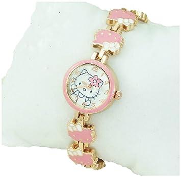 Reloj pulsera de gato de la muchacha de moda del kawaii KT