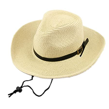 Hombres Sombrero de Paja Sombrero de Paja de Verano Sombrero de ...
