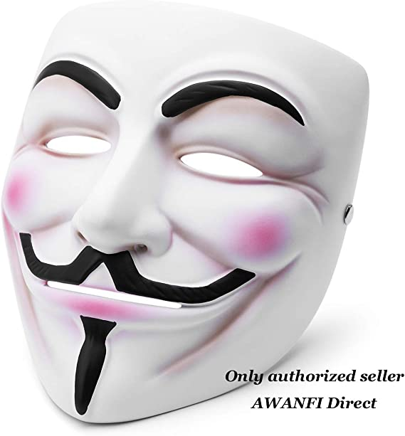 V for Vendetta Mask Guy Fawkes Anonymous Costume Fancy Dress Adult Costume