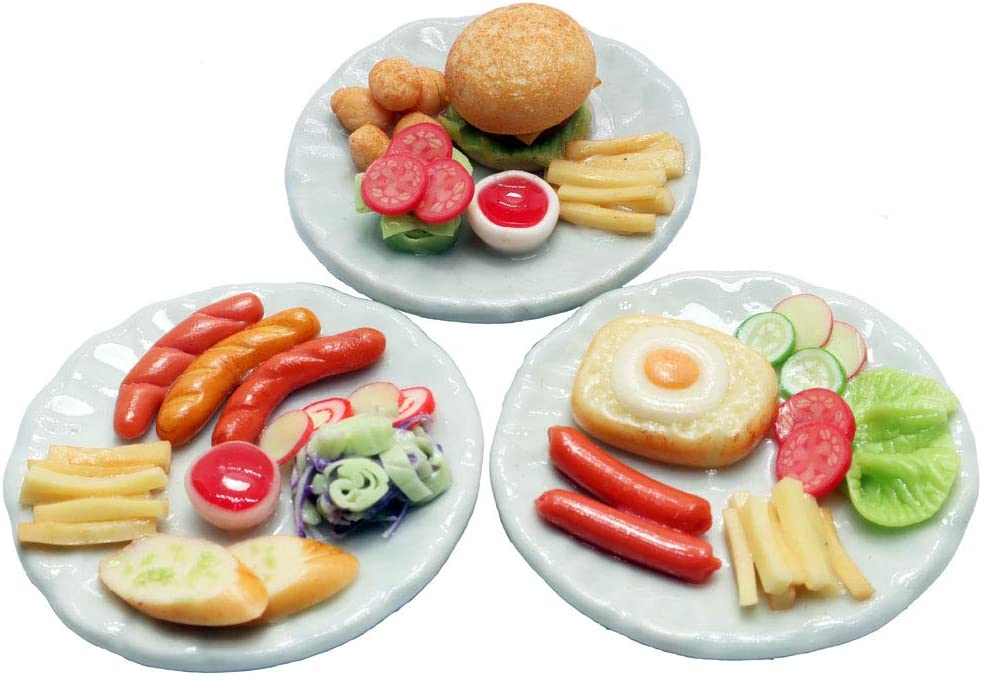 Mixed 3 Assorted Dollhouse Miniature Food, Dollhouse Collectibles