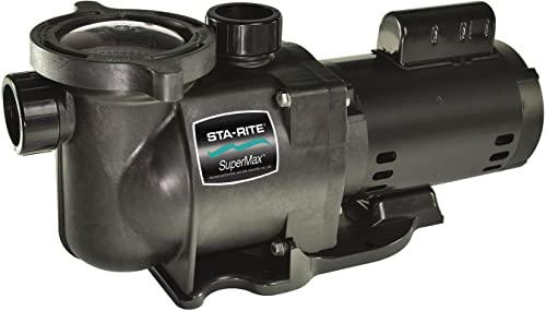 Pentair Sta-Rite N1-1AE HP SuperMax Energy Efficient Single Speed High Performance Inground Pool Pump, 1 HP, 115/208-230-Volt