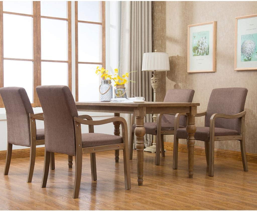 PRIDE S Chaise de salle à manger simple en bois massif avec accoudoir de restaurant, chaise de loisirs, chaise d'ordinateur pour adultes Chaise de salon (Color : D, Style : 1) F