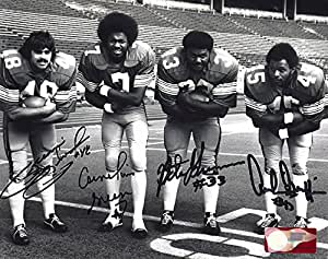 Fab 4 Autographed Ohio State Buckeyes 8x10 Photograph - Certified Authentic - Autographed Photos Archie Griffin, Brian Baschnagel, Cornie Green, Pete Johnson