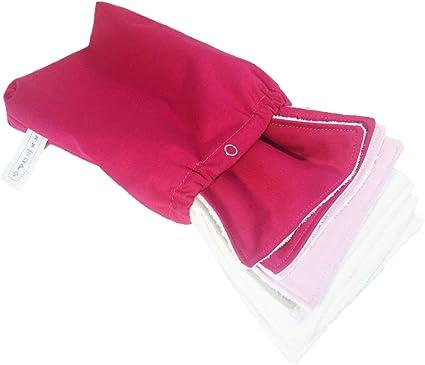 + sac de transport Berry Pink 10 Lingettes lavables Pack Pink touch - Louis Le Sec
