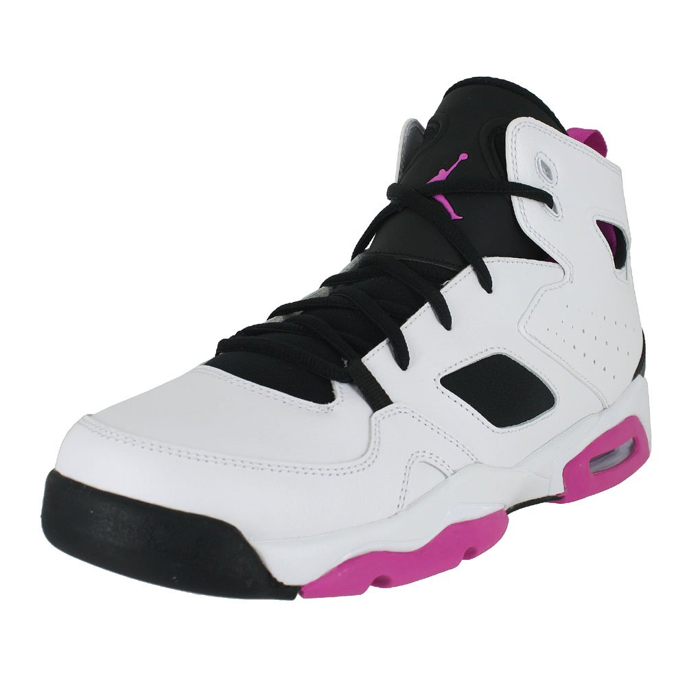 13d5d9964b1640 Galleon - Jordan Kids Flight Club 91 (GS) White Black Fuchsia Blast Size 8