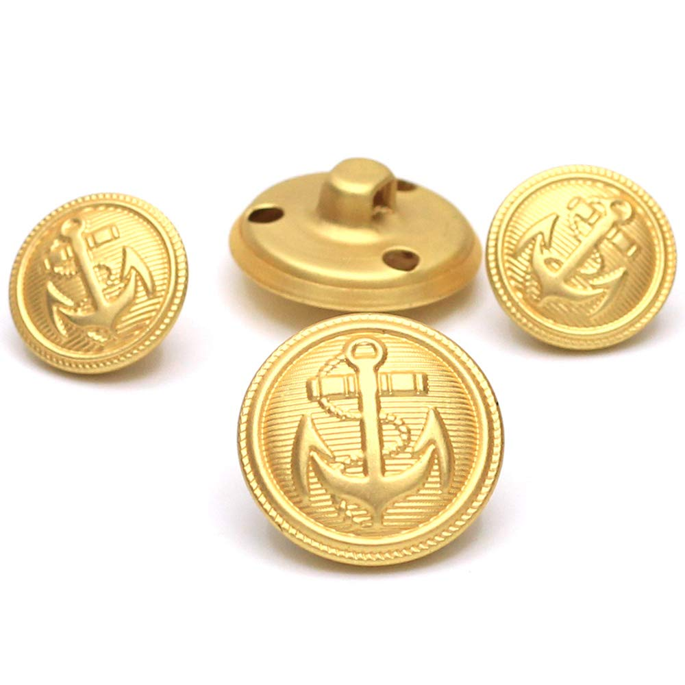 Coat Uniform Jacket 11 Pcs Gold Metal Blazer Buttons Antique Anchor Suits Button Set for Blazer Suits