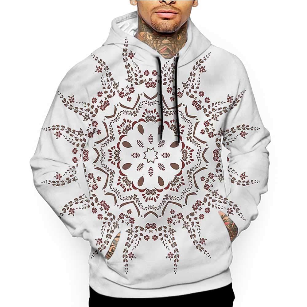 Hoodies Sweatshirt/Men 3D Print Mandala,Bohemian Folkloric Design,Sweatshirts for Teen Girls