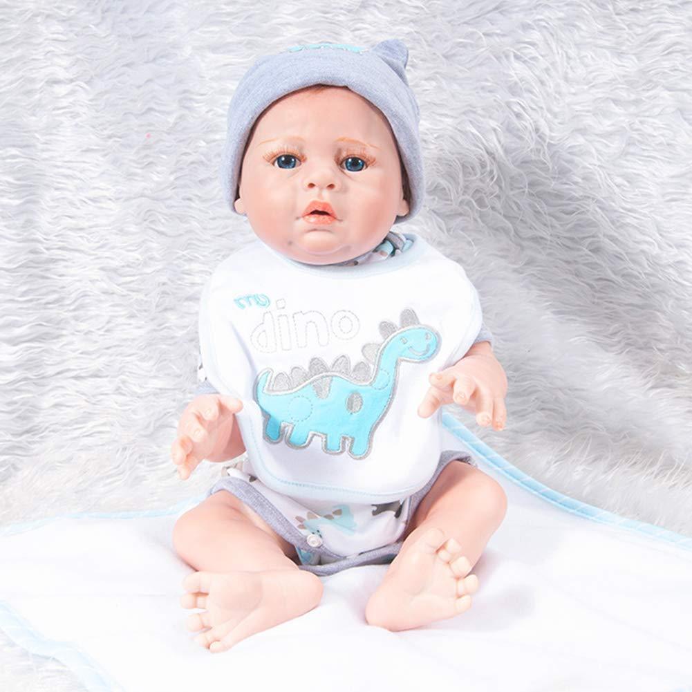 QWER Bebé Recién Nacido Muñeca,Simulación Baby Puzzle Baño Muñeca Realista Suave Silicona Bebé Juguete