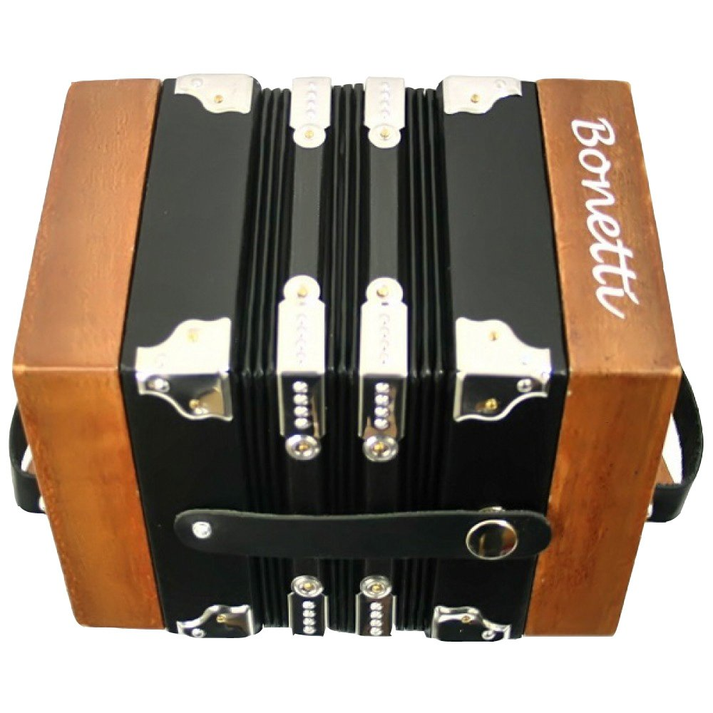 Bonetti Concertina 20 Key Accordion - 40 Reed, Natural Color with Case by Bonetti (Image #3)