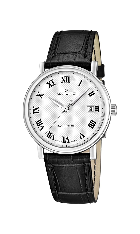 Candino Herren-Armbanduhr XL Analog Quarz Leder C4487-4