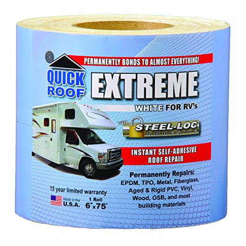 (Cofair 8WD108-1008 Quick Roof Extreme with Steel-Loc Adhesive, White for RVs - 6