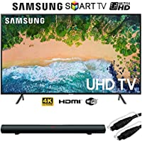 Samsung UN75NU7100 75 NU7100 Smart 4K UHD TV (2018) w/Sharper Image Sound Bar Bundle