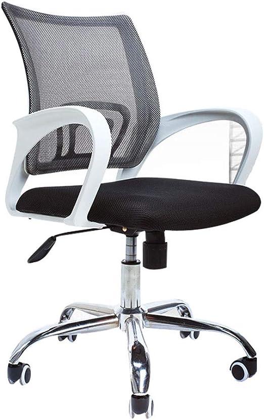 ADHKCF Silla ergonómica de Oficina con Respaldo de Malla Silla giratoria de Trabajo empresarial con Respaldo Medio: Amazon.es: Hogar