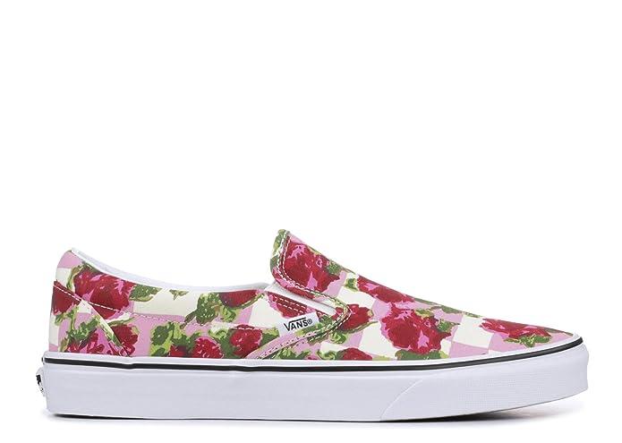 Vans Classic Slip On Sneaker Damen Herren Kinder Unisex Bunt mit Blumen